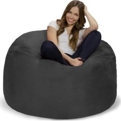 Bean Bag Chair 4-foot Memory Foam Removable Cover Bean Bags found on Bargain Bro from Overstock for USD $121.59