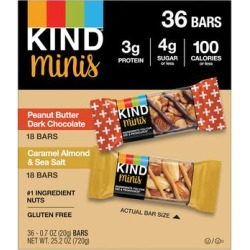 KIND Snacks Bars - Peanut Butter & Caramel Almond Mini Bars - 1 Box of 36 found on Bargain Bro Philippines from zulily.com for $14.99