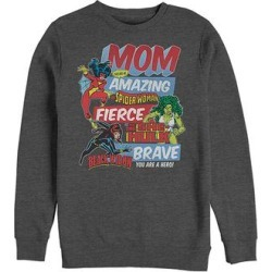 Fifth Sun Men's Sweatshirts and Hoodies CHAR - Marvel Charcoal Heather Retro 'Mom' Long-Sleeve Tee - Men found on Bargain Bro from zulily.com for USD $21.27