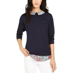 Tommy Hilfiger Womens Top Layered Floral Print - Sky Captain found on Bargain Bro from Overstock for USD $23.55