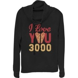 Fifth Sun Women's Sweatshirts and Hoodies BLACK - Avengers Black '3000' Arc Reactor Cowl Neck Pullover - Women & Plus found on Bargain Bro from zulily.com for USD $21.27