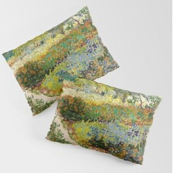 King Size Pillow Sham | Vincent Van Gogh - Garden At Arles by Vintage Wall Art - STANDARD SET OF 2 - Cotton - Society6 found on Bargain Bro from Society6 for USD $30.39
