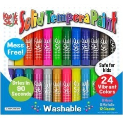 Kwik Stix Art Paint - 24-Ct. Tempera Paint Stick Set found on Bargain Bro India from zulily.com for $16.99