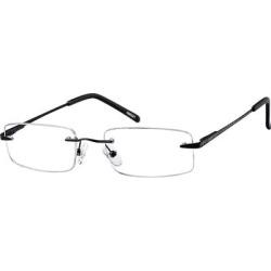 Zenni Men's Lightweight Rimless Prescription Glasses Black Stainless Steel Frame found on Bargain Bro from Zenni Optical for USD $18.20