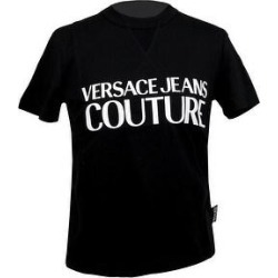 petite Versace Jeans Couture Black Pure Cotton Short Sleeve Logo T-Shirt- (M), Women's found on Bargain Bro from Overstock for USD $65.35