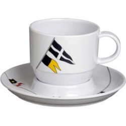 Regata Tea Cup & Saucer - Set of 6 found on Bargain Bro from Overstock for USD $44.45