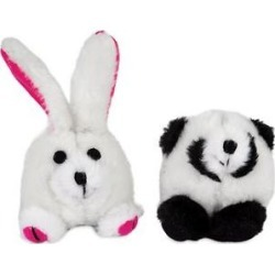 Zoobilee Squatter Panda & Rabbit Plush Puppy Toy, 2 count found on Bargain Bro Philippines from Chewy.com for $6.99