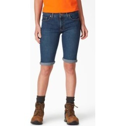 Dickies Women's Perfect Shape Denim Bermuda Shorts - Stonewashed Indigo Blue Size 8 (FR146) found on Bargain Bro from Dickies.com for USD $22.79