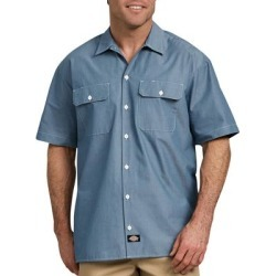 Dickies Men's Relaxed Fit Short Sleeve Chambray Shirt - Blue Size S (WS509) found on Bargain Bro India from Dickies.com for $24.99