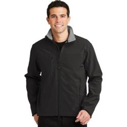 Port Authority J790 Glacier Soft Shell Jacket in Black/Chrome size 4XL | Polyester/Spandex Blend found on Bargain Bro Philippines from ShirtSpace for $58.60