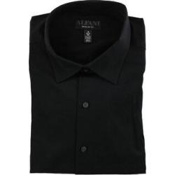 Alfani Mens Performance Button Up Dress Shirt (Black - 22