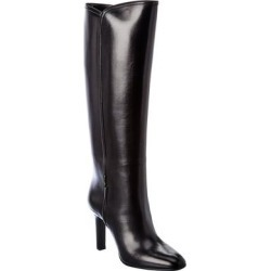 Saint Laurent Jane Leather Knee-High Boot (40), Women's, Black found on Bargain Bro from Overstock for USD $1,003.19