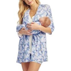 Adalia 5-piece Maternity/nursing Pajama Set - Blue - Everly Grey Nightwear found on Bargain Bro India from lyst.com for $98.00
