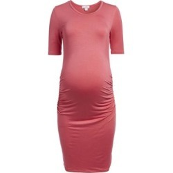 Times 2 Women's Casual Dresses CARNATION - Carnation Short-Sleeve Maternity Bodycon dress found on Bargain Bro from zulily.com for USD $11.39