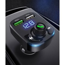 eDooFun Portable Chargers Black - Black Fast-Charging Music-Control Two-Port USB Car Charger found on Bargain Bro Philippines from zulily.com for $17.99