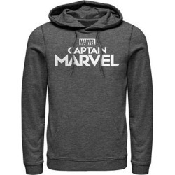 Fifth Sun Men's Sweatshirts and Hoodies CHAR - Captain Marvel Charcoal Heather Logo Hoodie - Men found on Bargain Bro from zulily.com for USD $28.87