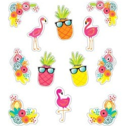 Schoolgirl Style Decals Multi - Yellow & Pink Tropical Accent Cutout Set found on Bargain Bro Philippines from zulily.com for $6.49