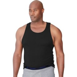 Men's Big & Tall Hanes A-Tank 3-Pack by Hanes in Black (Size 9XL) found on Bargain Bro from King Size Direct for USD $27.35