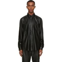 Black Vegan Leather Declan Shirt - Black - Nanushka Shirts found on MODAPINS from lyst.com for USD $405.00