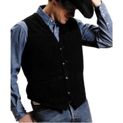 Roper Western Vest Mens Leather Snap Black (3XL), Men's found on MODAPINS from Overstock for USD $64.94