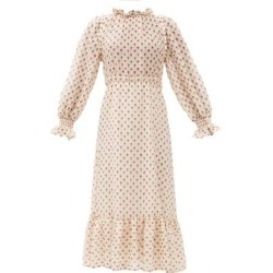 Alexis Floral-print Wool-blend Gauze Dress - Natural - Sea Dresses found on MODAPINS from lyst.com for USD $297.00
