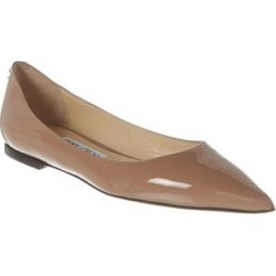Jimmy Choo Love Patent Flat (39), Women's, Beige(leather) found on MODAPINS from Overstock for USD $505.99