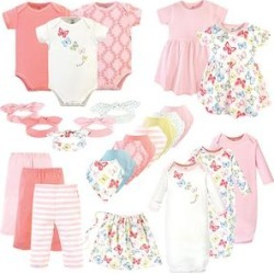 Touched by Nature Girls' Casual Dresses Butterflies - Butterflies 25-Piece Organic Cotton Layette Set - Newborn found on Bargain Bro Philippines from zulily.com for $65.98