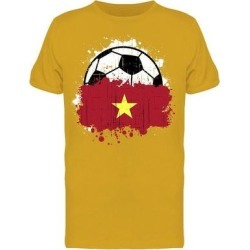 Soccer Team Of Vietnam Tee Men's -Image by Shutterstock Men's T-shirt (3XL), Gold found on Bargain Bro from Overstock for USD $12.91