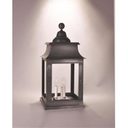 Northeast Lantern Concord 25 Inch Tall 3 Light Outdoor Pier Lamp - 5653P-DAB-LT3-CSG found on Bargain Bro from Capitol Lighting for USD $558.95