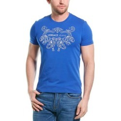 Versace Jeans Mens Blue Logo Graphic TShirt (XS), Men's found on Bargain Bro Philippines from Overstock for $99.99