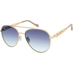 Jessica Simpson Collection Women's Sunglasses Gold - Gold & Blue Aviator Sunglasses found on Bargain Bro from zulily.com for USD $11.39