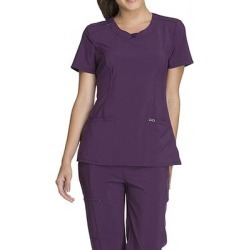 Cherokee Medical Uniforms Infinity-Round Neck Top (Size XL) Eggplant, Polyester,Spandex found on Bargain Bro Philippines from ShoeMall.com for $28.99