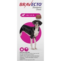 Bravecto For Extra Large Dogs 88-123lbs (Pink) 1 Chews found on Bargain Bro Philippines from Canadapetcare.com for $46.50