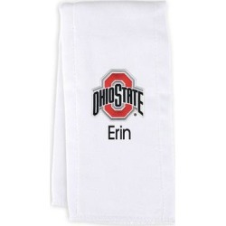 Ohio State Buckeyes Chad & Jake Team Personalized Burp Cloth - White found on Bargain Bro Philippines from Fanatics for $19.99
