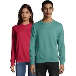 Hanes Men's ComfortWash Garment Dyed Fleece Sweatshirt (Spanish Moss - M), Spanish Green found on Bargain Bro Philippines from Overstock for $26.28