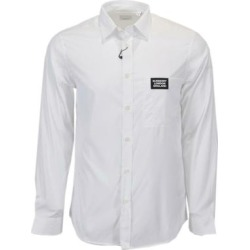 Burberry Men's White Cotton SOLOMAN Patch Logo Dress Shirt (L) found on MODAPINS from Overstock for USD $259.00
