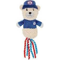 Frisco Baseball Bear Plush and Crinkle Kicker Cat Toy with Catnip found on Bargain Bro India from Chewy.com for $5.98