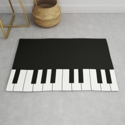 Modern Throw Rug | Nodame Cantabile Piano Bag Inspired Pattern by Miyabee - 2' x 3' - Society6 found on Bargain Bro from Society6 for USD $29.79