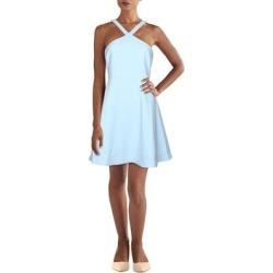 Likely Womens Ashland Cocktail Dress Criss-Cross Front Mini - Blue - 6 found on MODAPINS from Overstock for USD $66.44