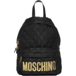 Logo Quilted Backpack - Black - Moschino Backpacks found on Bargain Bro from lyst.com for USD $269.04
