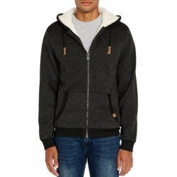 Buffalo David Bitton Mens Hoodie Black Large L Full-Zip Sherpa Marled (L), Men's(polyester) found on MODAPINS from Overstock for USD $48.98