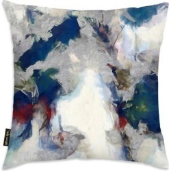Oliver Gal 'Explosive Shade' Decorative Throw Pillow, Blue, Oliver Gal Artist Co.(Microfiber, Abstract) found on Bargain Bro from Overstock for USD $39.13