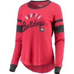 Touch by Alyssa Milano Women's Tee Shirts Red - Georgia Bulldogs Lightweight Thermal Long-Sleeve Tee - Women found on Bargain Bro India from zulily.com for $35.99