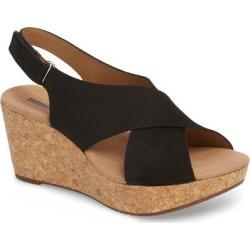 Clarks Annadel Eirwyn Wedge Sandal - Black - Clarks Heels found on Bargain Bro India from lyst.com for $95.00