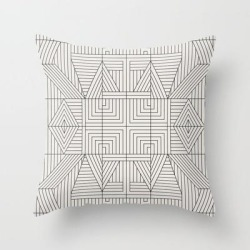 Couch Throw Pillow | Line Mandala by Holli Zollinger - Cover (16