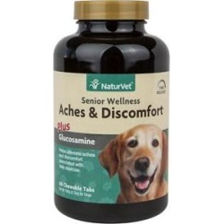 NaturVet Senior Care Aches & Discomfort Dog Tablets, 60 count found on Bargain Bro from Chewy.com for USD $8.35