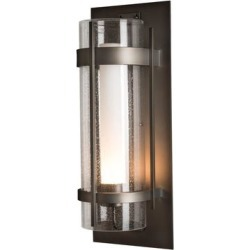 Hubbardton Forge Banded 25 Inch Tall 1 Light Outdoor Wall Light - 305899-1005 found on Bargain Bro from Capitol Lighting for USD $1,254.00