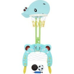 FYHSHOP 3 in 1 Adjustable Basketball Hoop Stand, Size 23.0 H x 18.6 W x 6.0 D in   Wayfair FYH201218151443004 found on Bargain Bro Philippines from Wayfair for $61.65