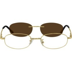 Zenni Oval Prescription Glasses W/ Snap-On Sunlens Gold Stainless Steel Frame found on Bargain Bro Philippines from Zenni Optical for $19.00