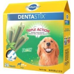 Pedigree Dentastix Fresh Mint Flavored Large Dental Dog Treats, 28 count